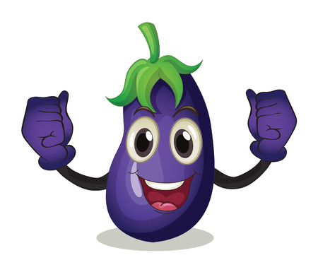brinjal: Illustration of an eggplant with face