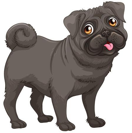 illustraion: Illustraion of a closeup dog