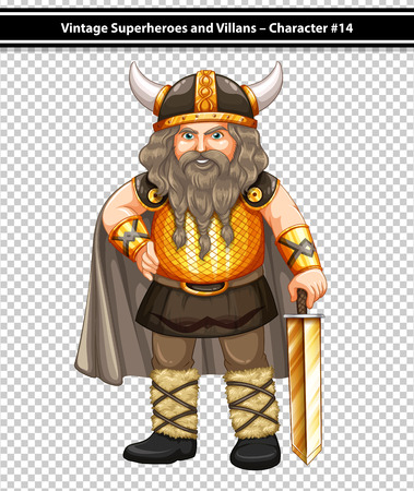 role model: Illustration of a male viking