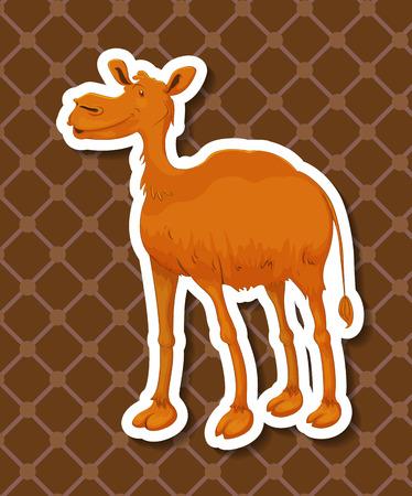 illustraion: Illustraion of a camel with background Illustration