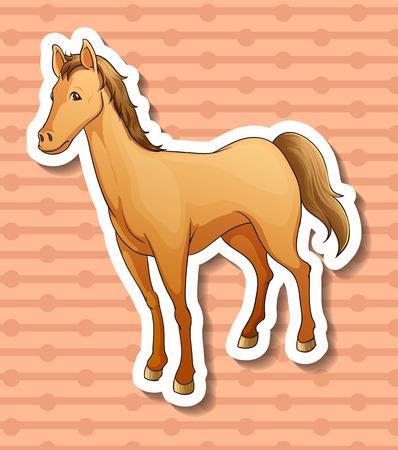 pony ride: Illustration of