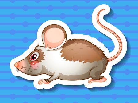 dientes sucios: Ilustraci�n de una rata con el fondo