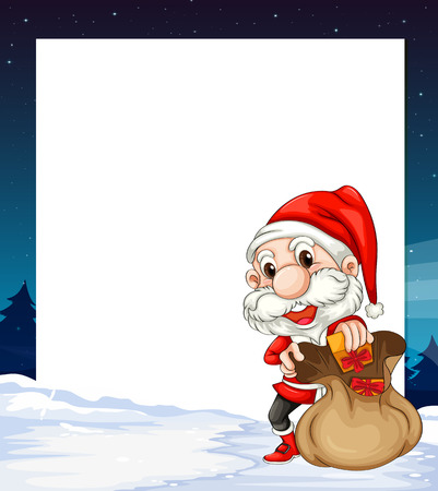 Illustration of a banner with santa background Vector