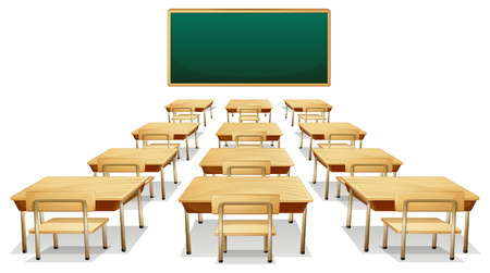Illustration of an empty classroom Vector