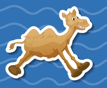 running camel: Illustration of a closeup camel