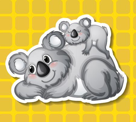 koala bear: Illustration of a closeup koala