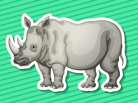 conserved: Illustraion of a rhino with background Illustration