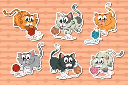 housepet: Illustration of a set of kittens