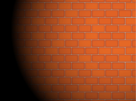 glows: Illustration of a brick wall with spotlight