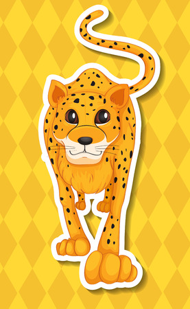 conserved: Illustration of a leopard with background