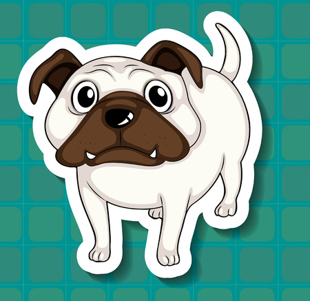 Illustration of a small dog with background Vector
