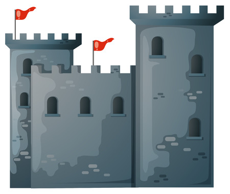illustration of a close up castle