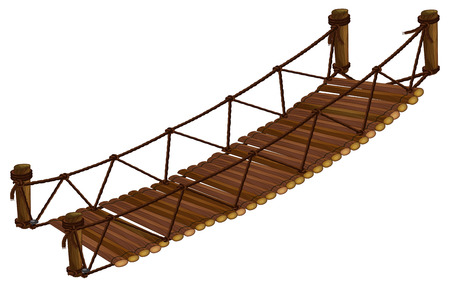 Illustration of a close up bridge Vettoriali