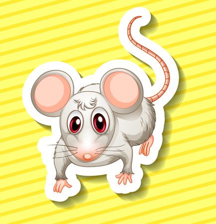 dientes sucios: Ilustraci�n de una sola rata con el fondo