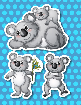 Illustration of koala with background Vector