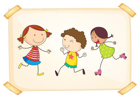 Illustration of many children being happy Vector