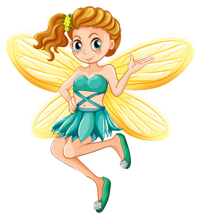 fictional character: Illustration of a single fairy Illustration