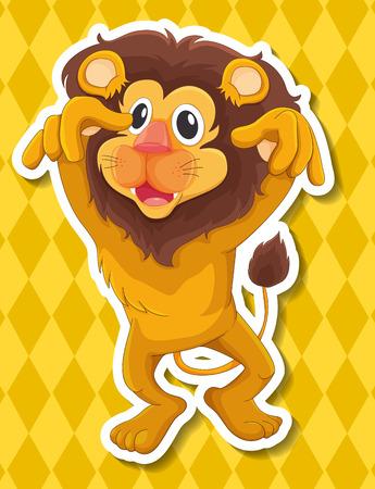 conserved: Illustration of a close up lion Illustration