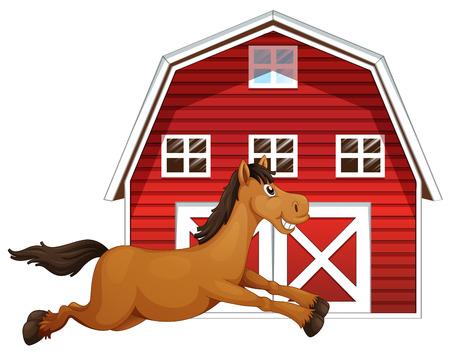 red barn: Illustration of