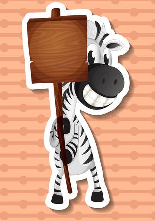 conserved: illustration of a zebra holding a sign Illustration