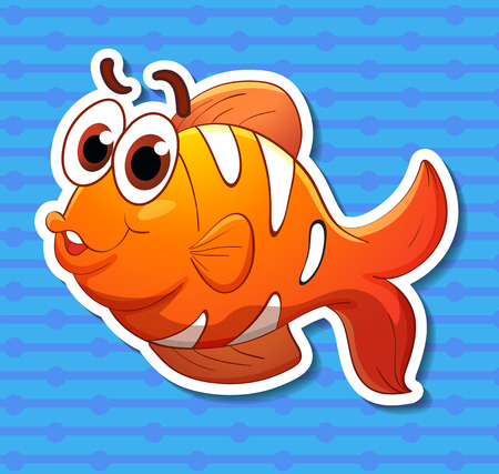 clownfish: Illustration of a clownfish with background