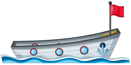 Illustration of a close up boat Vector