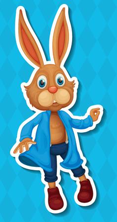 Illustration of a single rabbit Vector