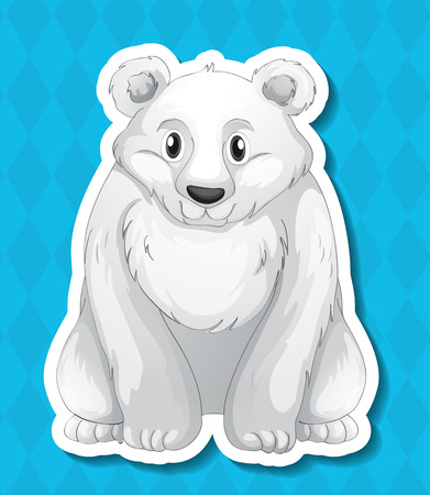 conserved: Illustration of a polar bear with background