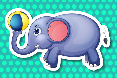 conserved: Illustration of an elephant playing a ball Illustration