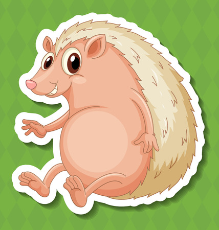 Illustration of a hedgehog with background Vector
