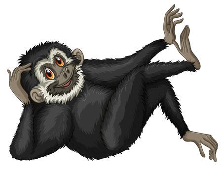 Illustration of a single gibbon Vector