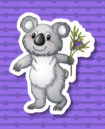 Illustration of a koala with background Vector
