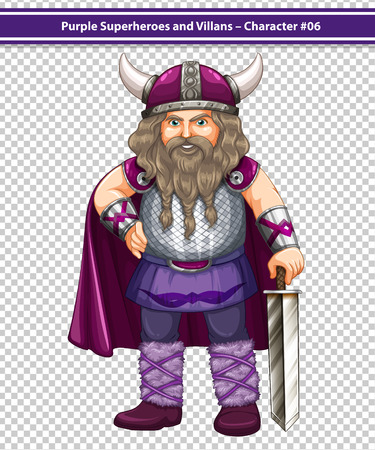 role model: illustration of a male viking with a sword Illustration