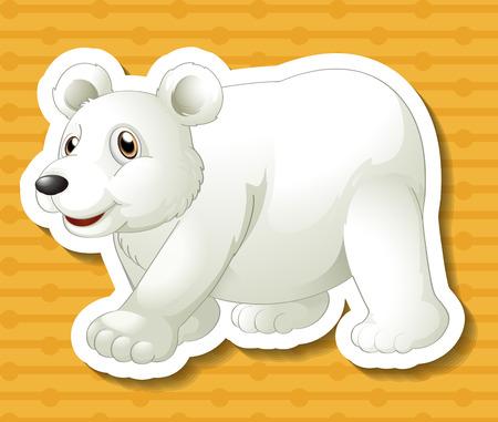 northpole: illustration of a polar bear with background Illustration