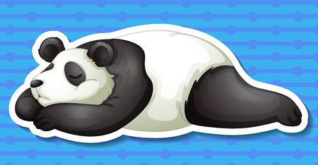 conserved: Illustration of a panda with background Illustration