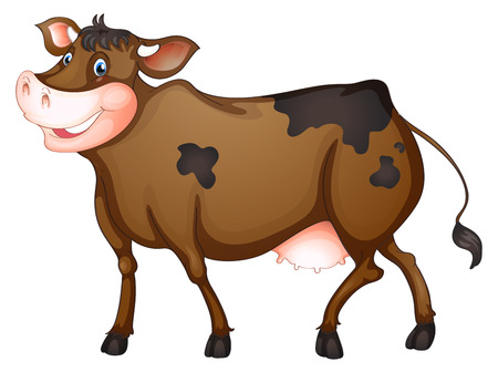 food clipart: illustration of a close up cow Illustration