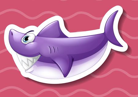 fish clipart: Illustration of a close up shark Illustration
