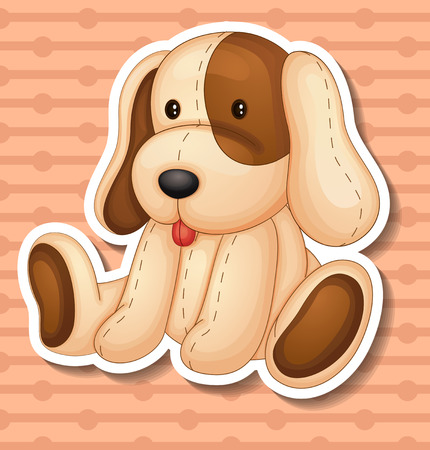 stuffed animals: Illustration of a stuffed animal dog