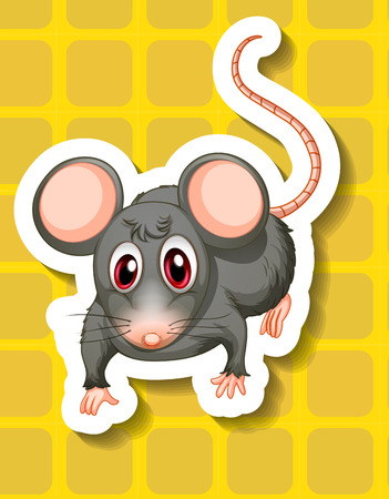 housepet: Illustration of a close up mouse