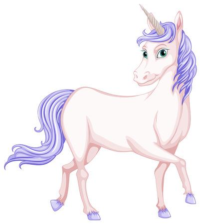 fictional character: Illustration of a beautiful unicorn