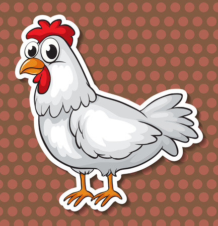 Illustration of a chicken with background Vector