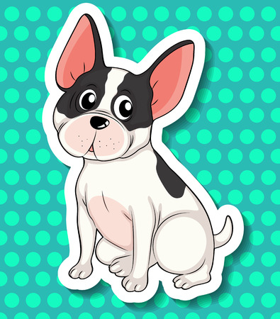 chihuahua dog: Illustration of a close up dog