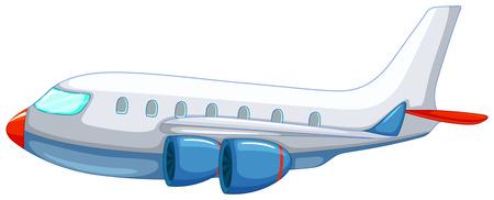 Illustration of a close up aeroplane
