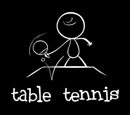 Illustration of a man playing table tennis Vector