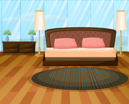 Illustration of an elegence bedroom Illustration