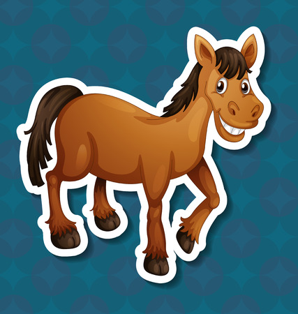 pony ride: Illustration of a close up horse Illustration