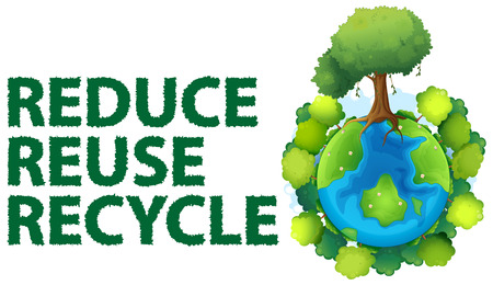 recycle reduce reuse: Ilustraci�n de signo de reciclaje