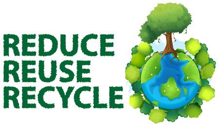 Ilustracja z recyklingu znak Ilustracje wektorowe