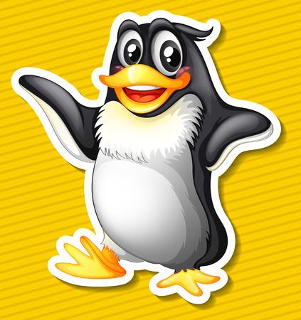 Illustration of a close up penguin Stock Illustratie
