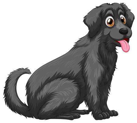 Illustrazione di una stretta cane nero Archivio Fotografico - 32578193